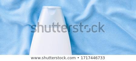 étiquette shampooing bouteille douche gel Photo stock © Anneleven