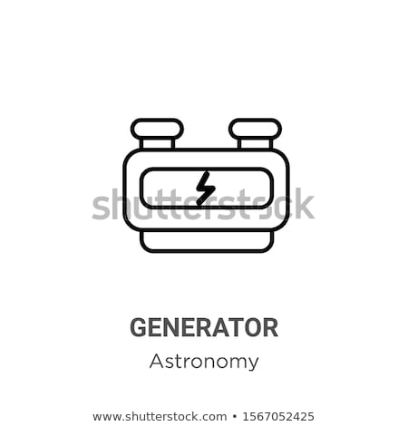 working windmill icon vector outline illustration Stock photo © pikepicture