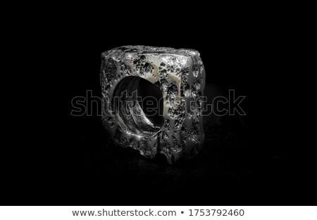 Pulido pieza capeado metal cuadrados tuerca Foto stock © tashatuvango