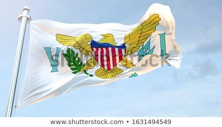 Waving Flag of US Virgin Islands Stock photo © nazlisart
