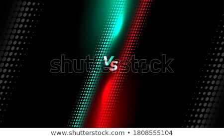 halftone style versus screen background design template Stock photo © SArts