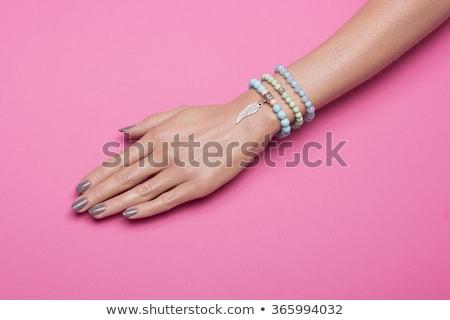 Roze sieraden kralen mode ontwerp Stockfoto © papa1266