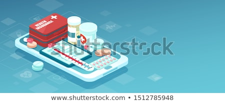 Online Pills Shop isometric icon vector illustration Stock photo © pikepicture