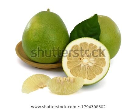 свежие · зеленый · белый · макроса · Cut - Сток-фото © ansonstock