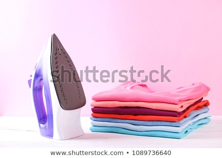 Iron clothes concept of neat and housework Stock photo © johnkwan