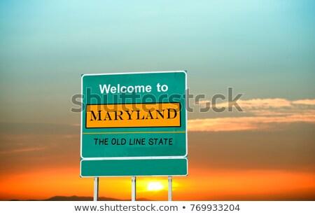 Maryland znak autostrady zielone USA Chmura ulicy Zdjęcia stock © kbuntu