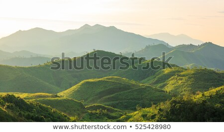 Stock photo: Sunrise in the mountains of Thailand