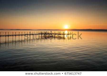 Sunset at Lake Balaton Stock photo © Spectral