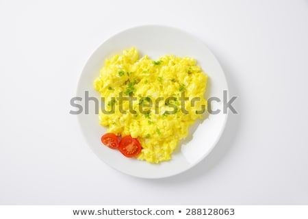 Scrambled eggs with cherry tomatoes Stock photo © fotogal