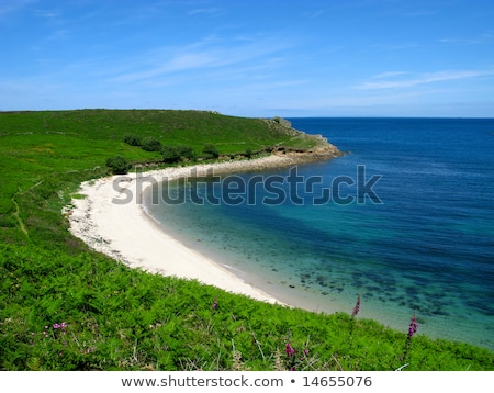 perpitch beach st martins isles of scilly stock photo © latent