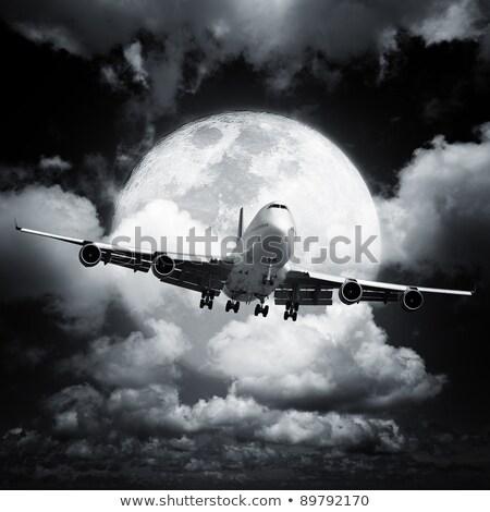 Сток-фото: Night Flight Square Composition In High Resolution
