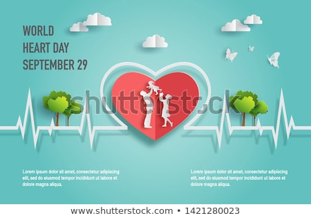 vector happy heart and heartbeat  Stock photo © freesoulproduction