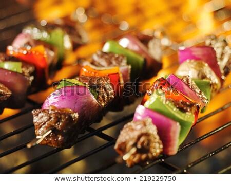 Biftek sebze soğan turuncu yeşil çan Stok fotoğraf © bendicks