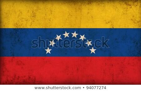 Grunge bayrak Venezuela eski bağbozumu grunge texture Stok fotoğraf © HypnoCreative