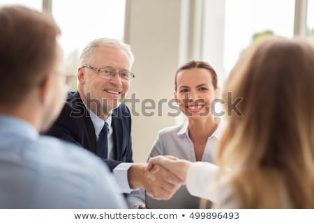 Hispanic businessman handshake Stock photo © aremafoto