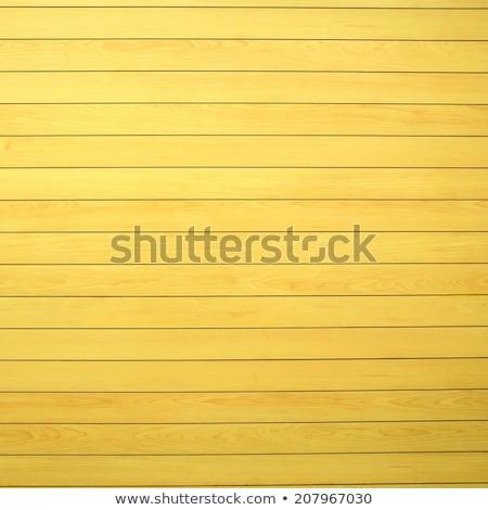 Stock photo: Yellow wood wall