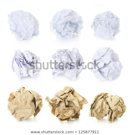Set of  Squared Crumpled Paper Ball / blank and used up / isolat Stock photo © Taiga