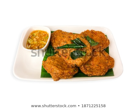 cut fried shrimp cake Stock photo © pongam