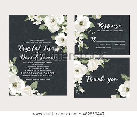 Abstract frame with white flowers Stock photo © boroda