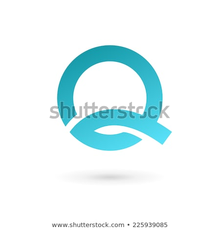 Glossy Icons for letter Q stock photo © cidepix