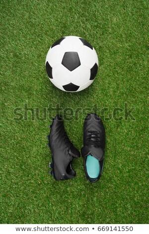 üst futbol topu adam ayakta bir Stok fotoğraf © jacojvr