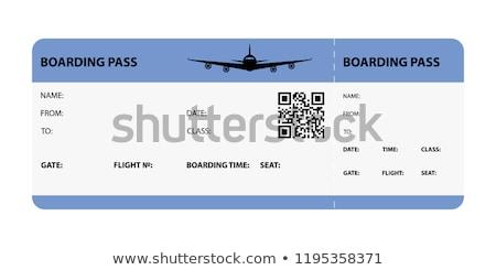 搭乗 合格 孤立した 白 チケット カード ストックフォト © speedfighter