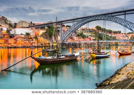 brug · Portugal · hemel · metaal · zomer · reizen - stockfoto © phbcz