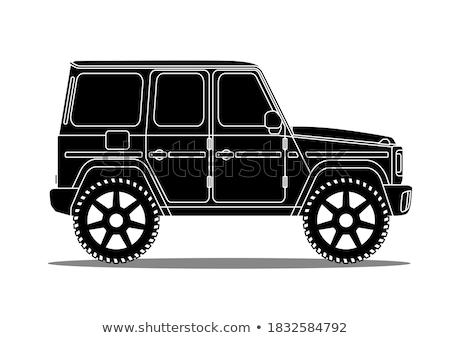Esportes utilidade veículo carro vetor linha Foto stock © lkeskinen