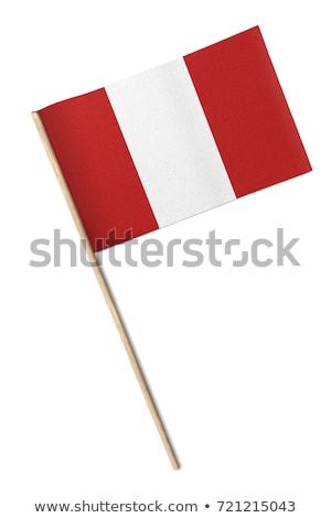 Minyatür bayrak Peru yalıtılmış iş Stok fotoğraf © bosphorus