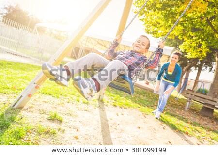 счастливым · мало · мальчика · Swing · площадка · лет - Сток-фото © annakazimir
