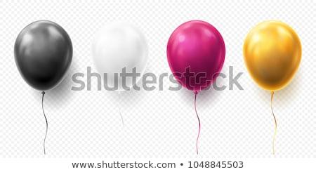 Résumé ballons anniversaire amusement blanche Photo stock © rioillustrator