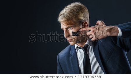 Stock fotó: Vadászrepülő · üzletember · koncentráció · pillanat · üzlet · háttér