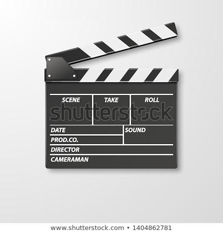 movie clapper clapboard clapperboard film slate in black stock photo © experimental