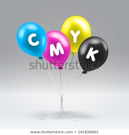 CMYK balloon Stock photo © vectorArta