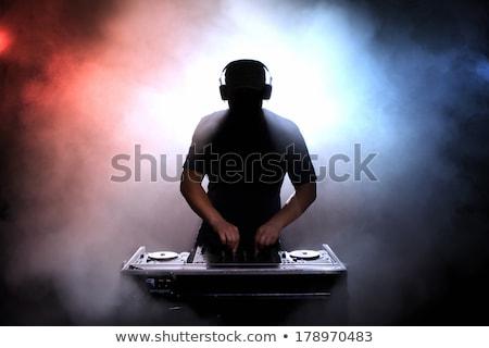 Illuminated lights on a DJ deck Stock photo © stryjek