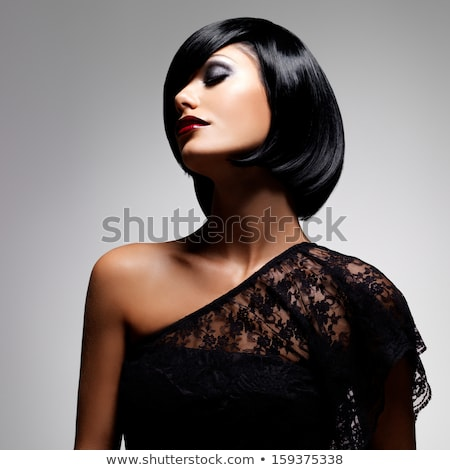 retrato · belo · feminino · modelo · lábios · vermelhos - foto stock © gromovataya