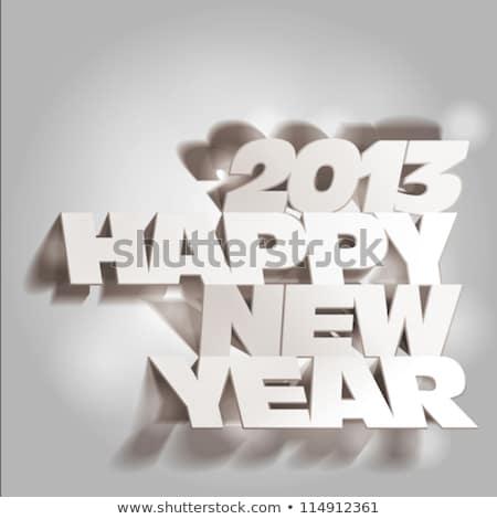 Nieuwjaar 2013 grafische 3d illustration goud nummers Stockfoto © Irisangel