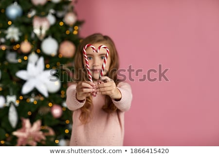 若い女の子 食べ 中心 キャンディー 少女 ストックフォト © photography33