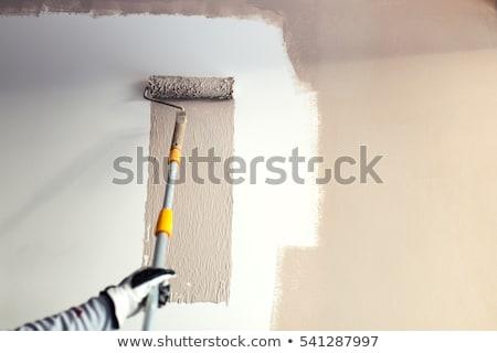 kereskedő · festmény · fal · arc · munkás · belső - stock fotó © photography33