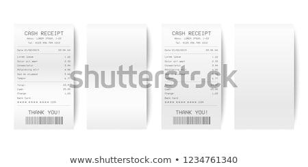 Recepción efectivo comprobar aislado blanco negocios Foto stock © timbrk