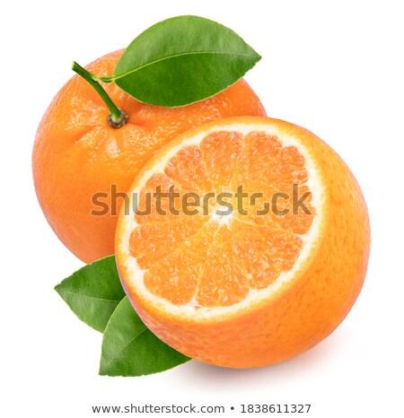 Fresh orange mandarin Stock photo © homydesign