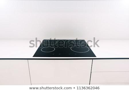 печи · пластина · изолированный · черный · стекла - Сток-фото © ozaiachin