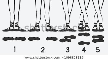 bale · ayaklar · pozisyonları · genç · kadın · balerin - stok fotoğraf © Forgiss