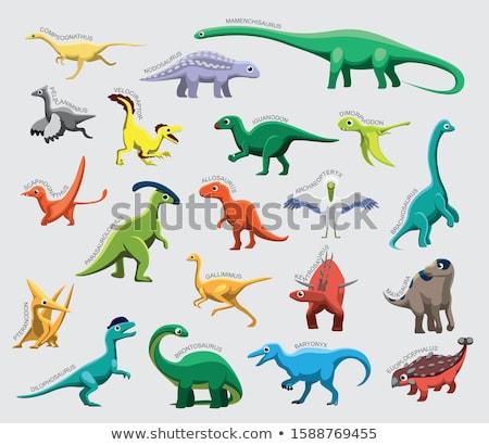 Dinoszaurusz kicsi láb hosszú korai 3d render Stock fotó © AlienCat