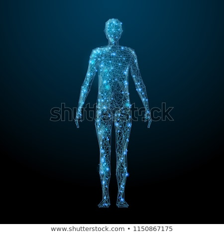 Digital illustration of human body in abstract background Stock photo © 4designersart