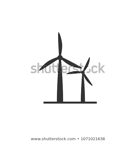 Vector icon wind power generation Stock photo © zzve