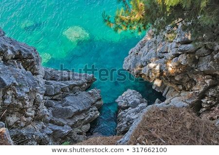 島 · 表示 · 風光明媚な · アイルランド · 海岸線 · ビーチ - ストックフォト © aetb