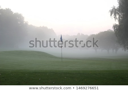 Foto d'archivio: Golf · mattina · vuota · campo · da · golf · autunno · campo