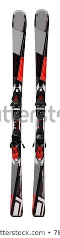 kayakçılık · siluetleri · adam · spor · Kayak · serin - stok fotoğraf © cteconsulting