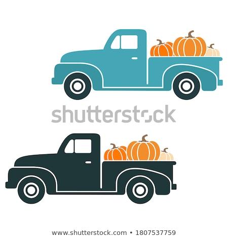 roestige · oude · vrachtwagen · wrak · uit · veld - stockfoto © vwalakte